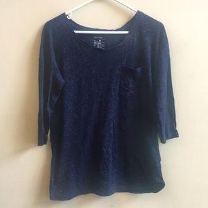 Gap maternity 3/4 sleeve heathered pocket shirt